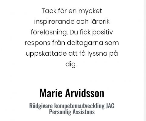 Marie Arvidsson