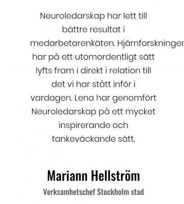 Neuroledarskap Marianne Hellstöm