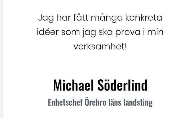 Neuroledarskap Michael Söderlind