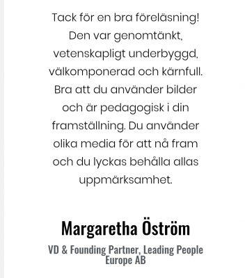 Social arbetsmiljö Margareta Öström