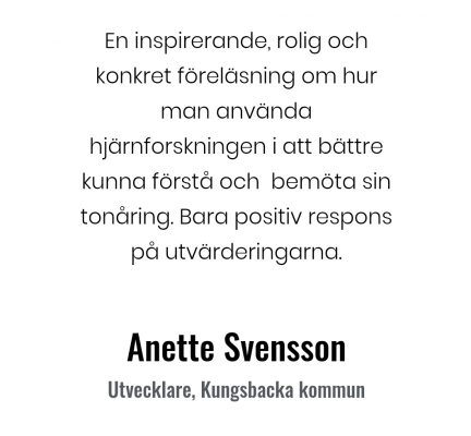 Tonårshjärnan Anette Svensson