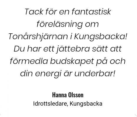 Tonårshjärnan Hanna Olsson